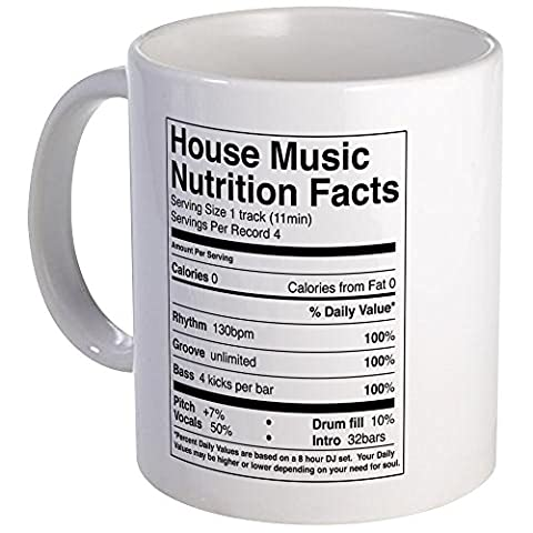 CafePress - House Music Nutrition Facts - Unique Coffee Mug, Coffee Cup, Tea Cup