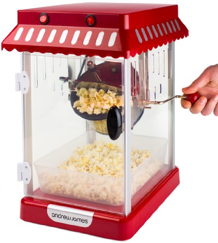 3d7f329797d8f6 Andrew James Retro Cinema Style Kettle Popcorn Maker Includes Four ...