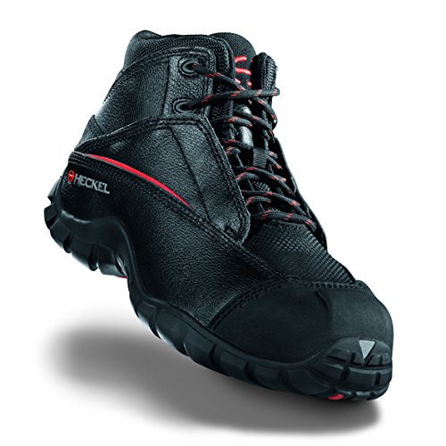 Heckel macsole Sport MACPULSE + MACJUMP S3HRO SRA–sportivo scarpe antinfortunistiche–100% metallo libero Nero (Macjump)