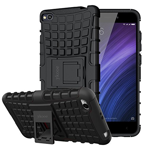 ykooe Xiaomi Redmi 4A Hülle, (Silikon Series) Xiaomi Redmi 4A Dual Layer Hybrid Handyhülle Drop Resistance Handys Schutz Hülle mit Ständer für Xiaomi Redmi 4A