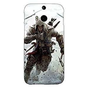 Jugaaduu Assassin's Creed Back Cover Case For HTC One M8 Eye