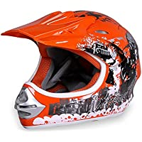 Actionbikes Motorradhelm X-Treme Kinder Cross Helme Sturzhelm Schutzhelm Helm für Motorrad Kinderquad und Crossbike in orange