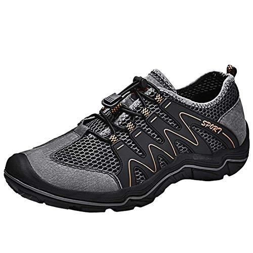 Scarpe da Trekking Uomo Scarpe da Acqua Sneakers Sportivi All'aperto Scarpe Pescatore Piscina Mare Escursionismo Arrampicata Climbing Leggero Scarpa (42 EU, Grigio)