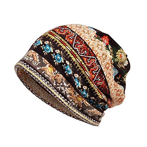 treestar bohemio estilo sombrero bufanda de impresión de doble uso ca