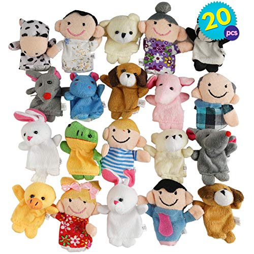 THE TWIDDLERS 20 Marionetas Dedos Animales adorables