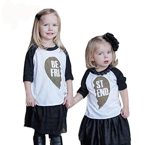Vêtements Famille Assortis, T-shirt Femme, Frenchenal 1 pcs Lettre Impression T-shirt sport Haut Chemisier Couple Chemise (Bébé Fille Garon Vêtement, 3T)