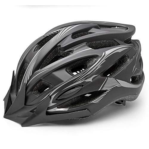 XRXX Fahrrad-Rennradhelm Fahrradhelm Integrierte Abnehmbare Krempe Einstellschraube Sicherheitskappe Black