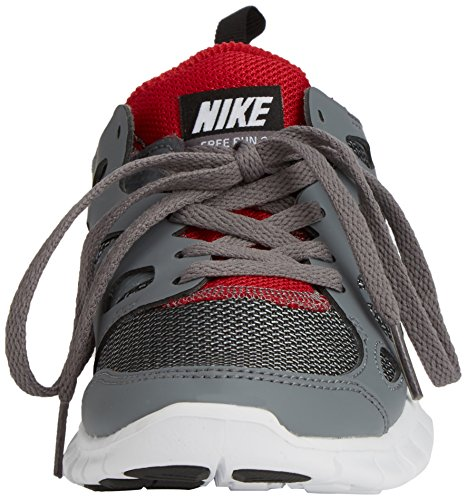 Nike Free Run 2 Junior (Gs), Chaussures Multisport Outdoor mixte enfant Gris - Grau (Wolf Grey/Black-Gym Red-White 035)