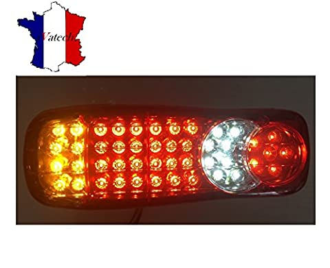 PAIRE 45 LED 12V FEUX ARRIERES CAMION REMORQUE FOURGON CHASSIS