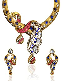 Zaveri Pearls Exquisite Peacock Glory Necklace Set For Women - ZPFK2341