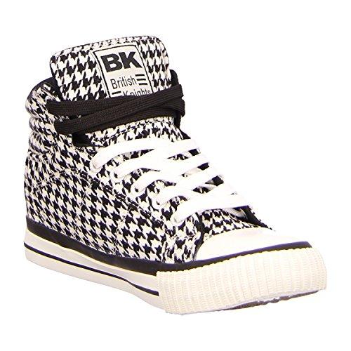 BK - Dee B36-3704-05 White/Black Damen Herren Sneaker Schuhe Skate White/Black
