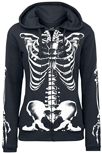 Full Volume by EMP Skeleton Sweatjacket Felpa jogging donna nero L