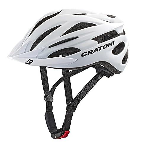 Cratoni Pacer Helmet white matt Kopfumfang L/XL | 58-62cm 2017 mountainbike helm downhill (Fahrradhelme Günstig)