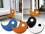 Tür- und Fensterstopper Flux 2er-Set schwarz Vollgummi 95 x 70 x 15 mm