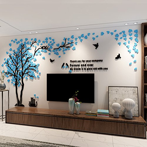 Peinture Bleu Acrylique Mur
