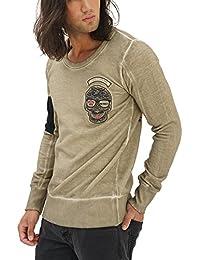 trueprodigy Casual Hombre Marca Sueter Estampado Ropa Retro Vintage Rock Vestir Moda Cuello Redondo Manga Larga