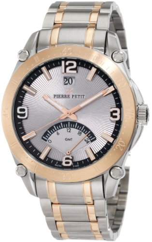 Pierre Petit Men's Quartz Watch Le Mans P-806D with Metal Strap