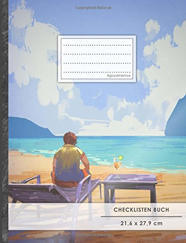 """Checklisten-Buch: DIN A4 • 70+ Seiten, Softcover, Register, \""""Achtsamkeit\"""" • #GoodMemos • 18 Checkboxen + Platz für Notizen/Seite (inkl. Register mit Datum uvm.)"""