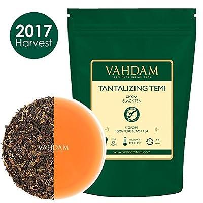 Thé noir organique de Temi attrayant, feuille libre non lavée de thé noir 100% pur provenant directement du domaine de thé de Sikkim, (100 tasses), 255g