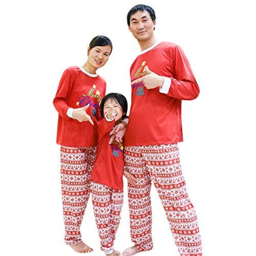 63d077d945 BOZEVON Conjunto de Pijamas Familiares de Navidad - Ropa Familiar a Juego  para la Familia Padre