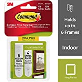 Command 3M - Tiras adhesivas para colgar fotos - color blanco