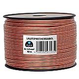 HB-Digital Lautsprecherkabel 2 x 1,5mm² x 50m CCA-Innenleiter PVC- Dielektrikum (transparent) Speaker Cable