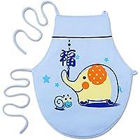 WMM Bebé Masculino bebé Femenino Cuidado General Vientre Delantal bebé Algodón Verano Sección Delgada,Azul,Pequeña