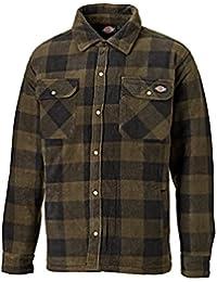 Dickies Mens Portland Long Sleeve Polyester Polar Fleece Padded Shirt