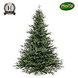 Künstlicher Weihnachtsbaum Spritzguss 120 cm Nobilistanne OXBURGH Edeltanne Kunsttanne Spritzgusstanne
