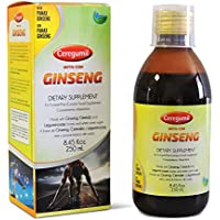 CEREGUMIL Pure-Liquid 6-Year Panax Ginseng Root Extract Syrup - 15mg Ginsenosides Help Fight Physical & Mental Fatigue; Boosts Energy, Daily Performance, Concentration and Reflexes - Natural Energy Supplement, No Additives or Preservatives - 250ml Bottle