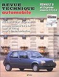 Revue technique Automobile : Renault 5 et express essence...