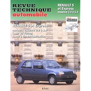 Revue technique Automobile : Renault 5 et express essence