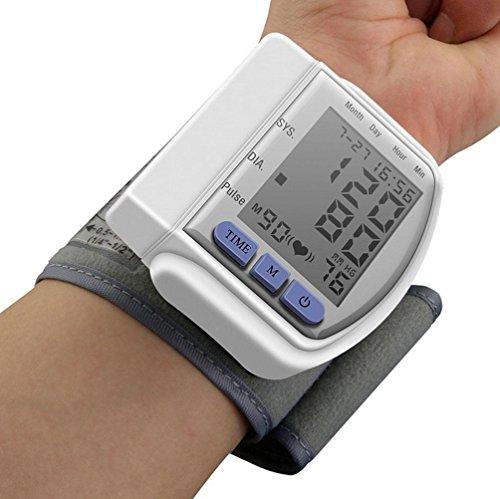 Liu Yu·casa creativa Liu-Sfigmomanometro da Braccio, CE certificata LCD Digitale Portatile Completamente misurare la Pressione arteriosa e Il Ritmo Cardiaco, Bianco