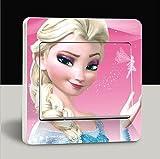 Elsa Frozen Lichtschaltersticker sitzend Rosa