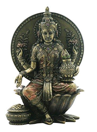 lakshmi-diosa-india-del-asiento-de-la-suerte-en-escultura-bronce-de-inglaterra