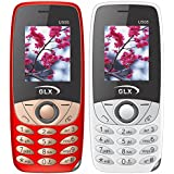 GLX(Powered By G'Five) U505 (White,Red), 1.8 Inch Display,Dual Sim Combo Of Two Basic Feature Mobile Phone With Wireless FM & 1 Year Manufacturer Warranty
