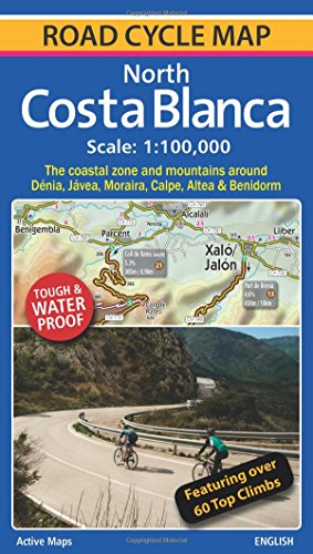 North Costa Blanca: Road Cycle Map -
