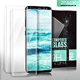 SGIN Verre Trempé Samsung Galaxy S8 Couverture Complète, [Lot de 2]Compatible 3D Touch en Verre Trempé écran Protecteur Vitre, Ultra Résistant, Dureté 9H, Anti Rayures Glass Pour Galaxy S8 - Transparent