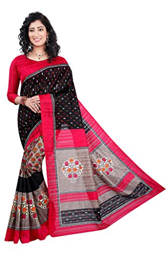 Glory Sarees Silk Saree (Vnaat04_Pink And Black)