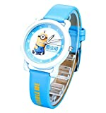 despicable me banana minions kids cartoon Watches leather Watch WP@KTWHR001L