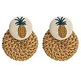 UMCCC Ohrring Mode Damen Multi-Layer Harz Rattan Woven Ohrringe Böhmischen Vintage Geschenke Für Frauen Mädchen