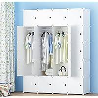 PREMAG Armario portátil para colgar la ropa, ropero combinado, Armario modular para ahorrar espacio, Ideal organizador de almacenamiento Cubo para libros, juguetes, toallas (20-Cube, extra Sticers incluidos)