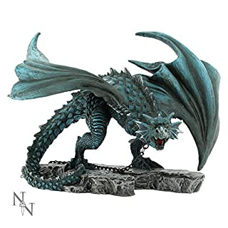 Nemesis Now Nyx Chained Dragon Hand Painted Figurine Ornament 21cm Staue Alator Range