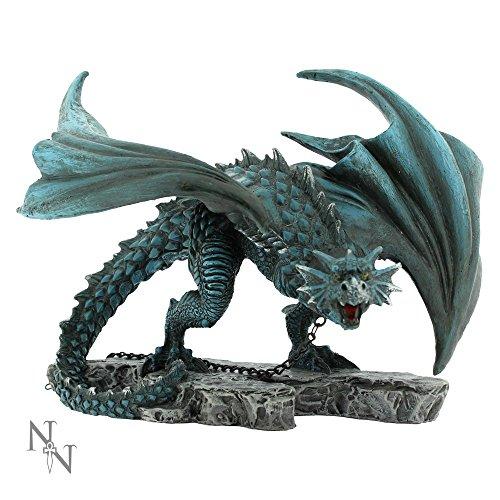 Nemesis Now Nyx–Chained Dragón pintado a mano decorativa 21cm Staue Alator Rango