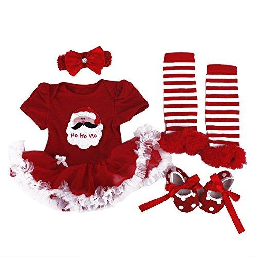 BabyPreg Baby-Kostüm, Tutu-Strampler mit Stirnband Gr. Small Für 3-6 Monate, Christmas Santa (Santa Rock Kostüm)