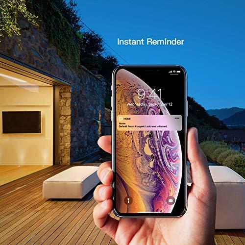 Koogeek Smart Fingerprint Lock BT Lucchetto Keyless biometrico funziona con Apple HomeKit Unlock by Fingerprints/Smartphone per Bike Backpack Locker Cabinet Cassetto per uso interno Nero