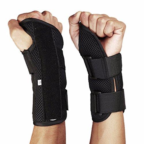 Fitdoo Handgelenkbandage Handgelenkstütze Handgelenkschoner für Karpaltunnelsyndrom Bruch Zerrungen Verstauchungen Schwellen Fasziitis und Arthrose Damen und Herren recht S (Bowling Handschuh-handgelenk-unterstützung)