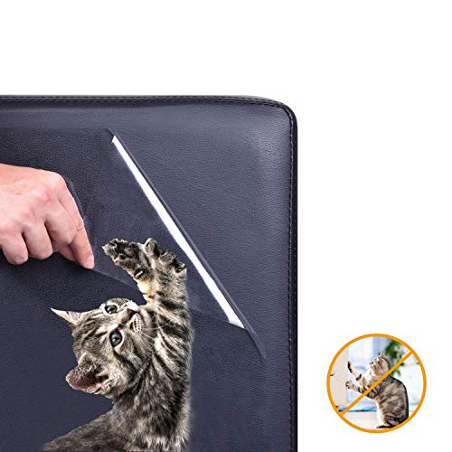 JVSISM 5 Stücke M?Bel Schutzschicht Katze, Katze Hunde Guard Selbst Klebende Pad + Twist Pin, Katze Hunde Guard Sofa, Wand, Tür - Katze Kratzt Abschreckend -