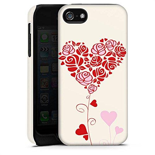 Apple iPhone X Silikon Hülle Case Schutzhülle Muster Rosen Herz Love Tough Case matt