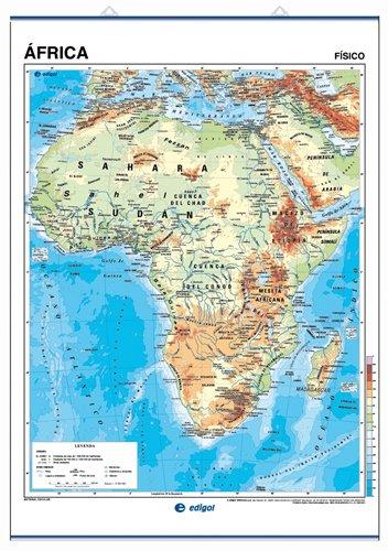 África, físico / político: Mapas Murales () por S. A. Edigol Ediciones